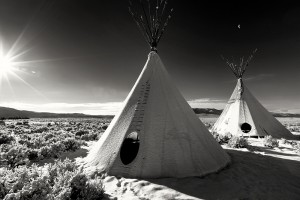 Tepee in the Snow